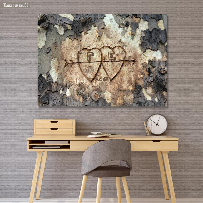 Canvas print Us (with initials)