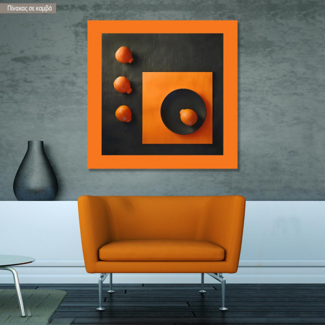 Canvas print Abstract orange II