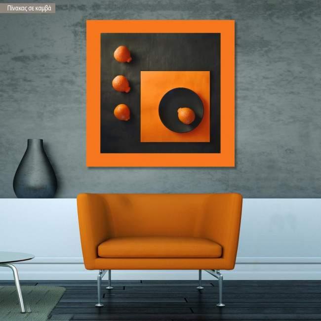 Πίνακας σε καμβά Abstract orange II