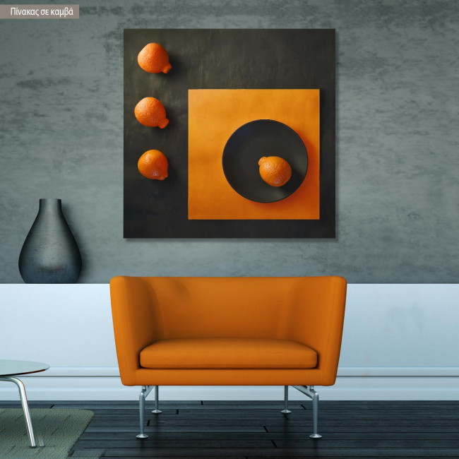 Canvas print Abstract orange I