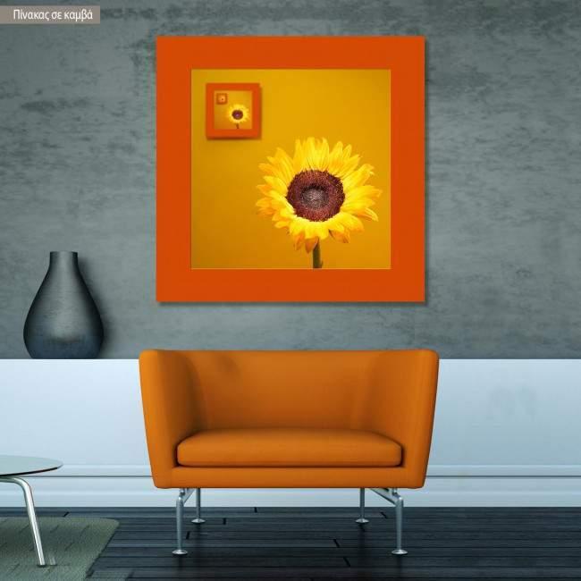 Canvas print  Sunflower instances