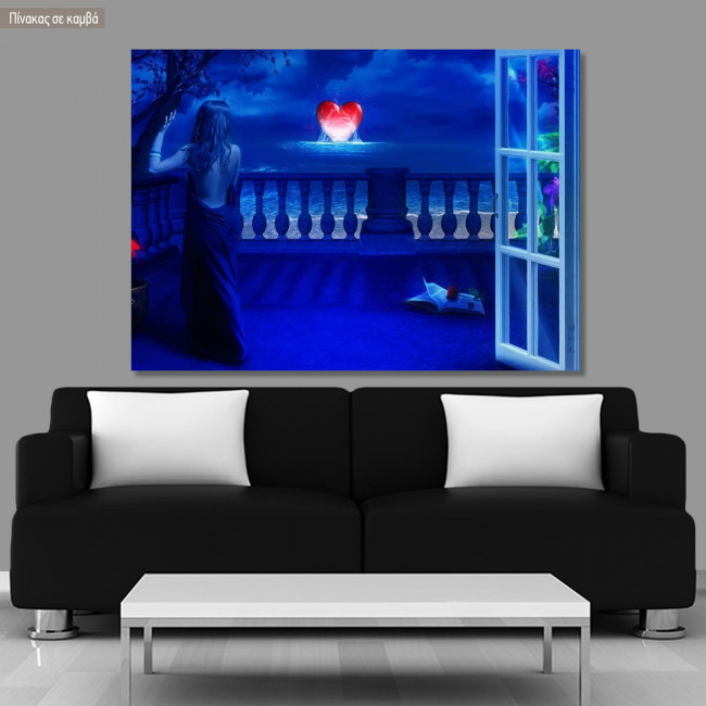Πίνακας σε καμβά Waiting for love
