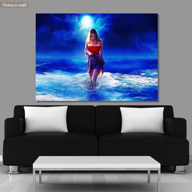 Πίνακας σε καμβά Full moon