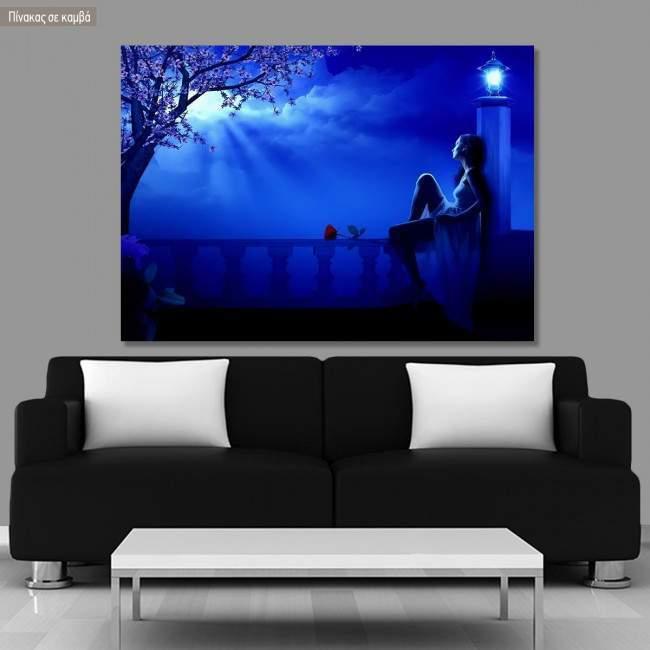 Πίνακας σε καμβά Blue night