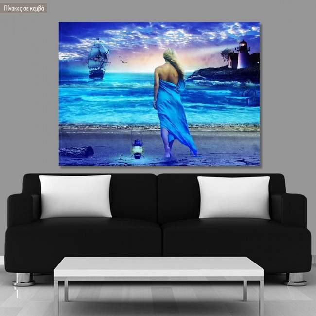 Πίνακας σε καμβά Fantasy beach