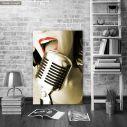 Πίνακας σε καμβά Τραγουδίστρια, Singer