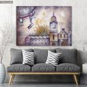 Canvas print Dream journey with rocket