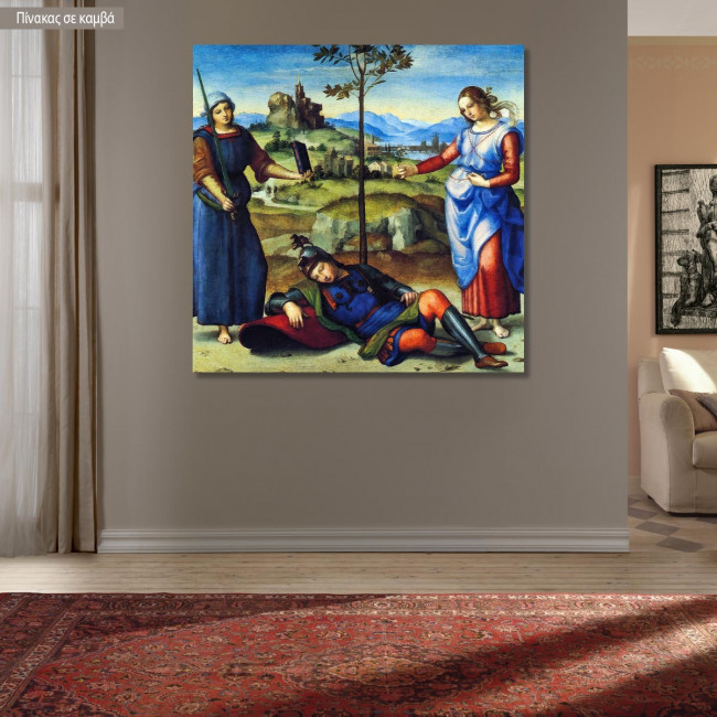 Πίνακας ζωγραφικής The vision of the knight, Raphael, αντίγραφο σε καμβά