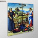 Canvas print The vision of the knight, Raphael, side