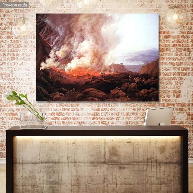 Πίνακας ζωγραφικής Outbreak of the Vesuvius, Dahl Johan Christian, αντίγραφο σε καμβά