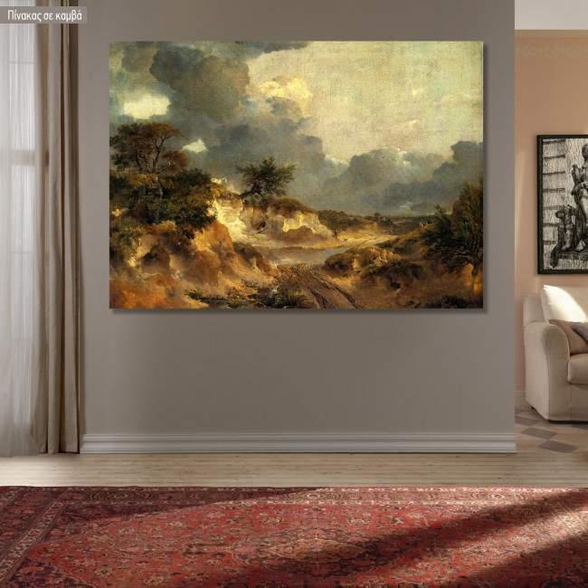 Πίνακας ζωγραφικής Landscape cliffs in Suffolk, Gainsborough Thomas, αντίγραφο σε καμβά