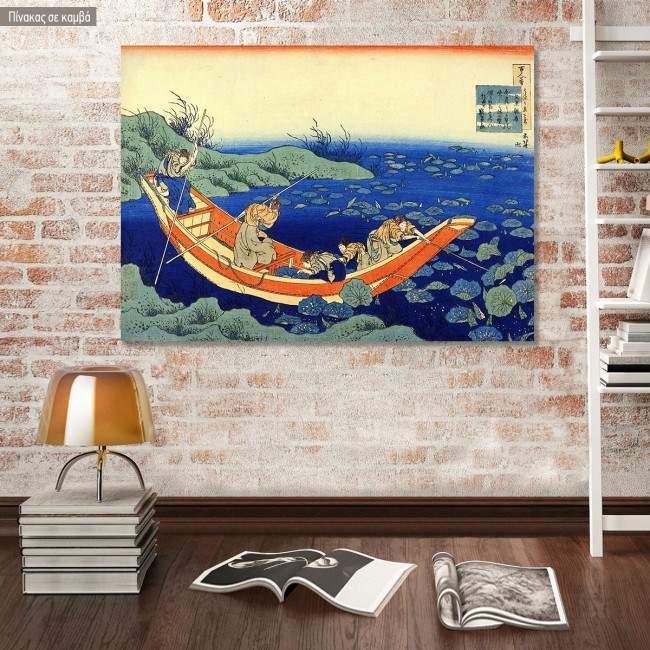 Canvas print 37/100 One hundred poems, Hokusai Katsushika