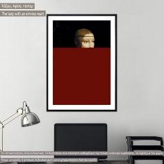 The lady with an ermine reart (original Da Vinci), Black Frame