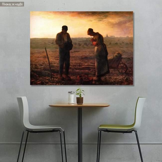 Canvas print The angelus, Millet Jean-Francois