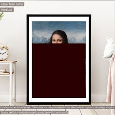 Mona Lisa reart (original Da Vinci) Poster