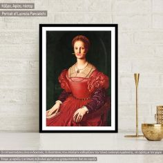 Portrait of Lucrezia Panciatichi, reart (original Bronzino A) Poster
