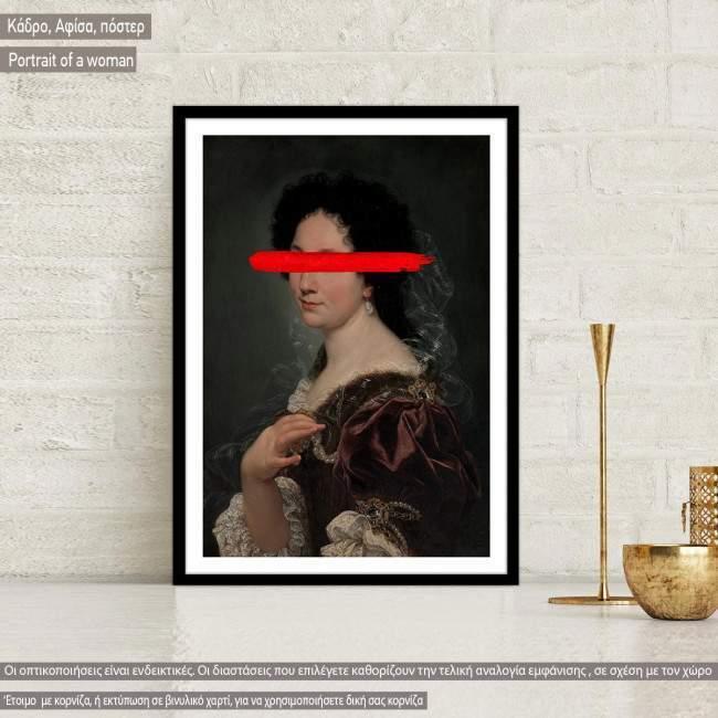 Portrait of a woman, reart (original Giovanni Battista Gaulli) Poster