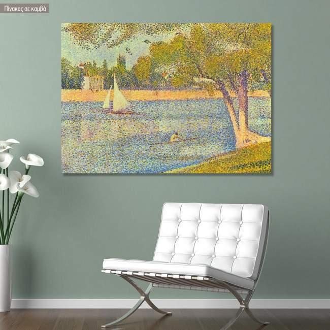 Canvas print Seine at La grande Jatte, Seurat Georges