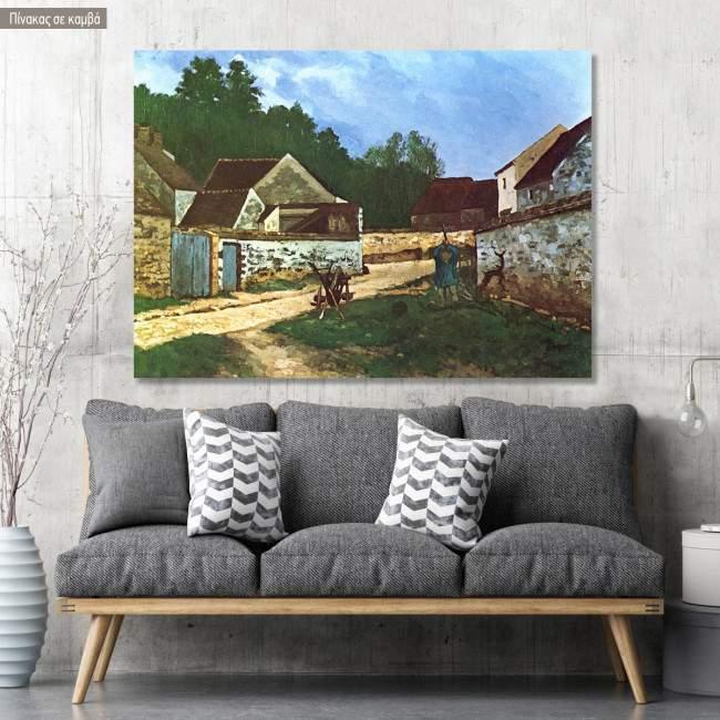 Πίνακας ζωγραφικής A street in Marlotte, Sisley Alfred, αντίγραφο σε καμβά
