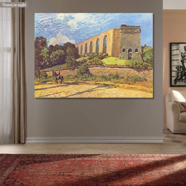 Canvas print Aqueduc de Marly, Sisley Alfred