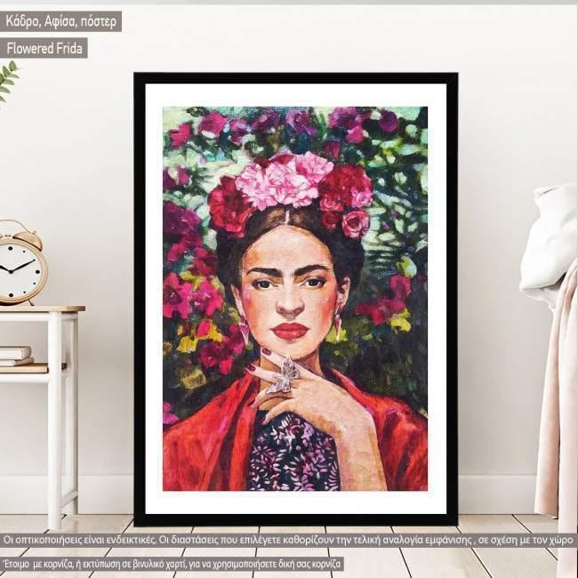 Flowered Frida I, Poster