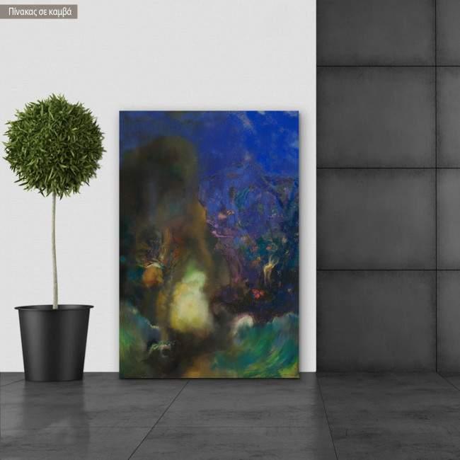 Πίνακας ζωγραφικής Roger and Angelica, Redon Odilon, αντίγραφο σε καμβά