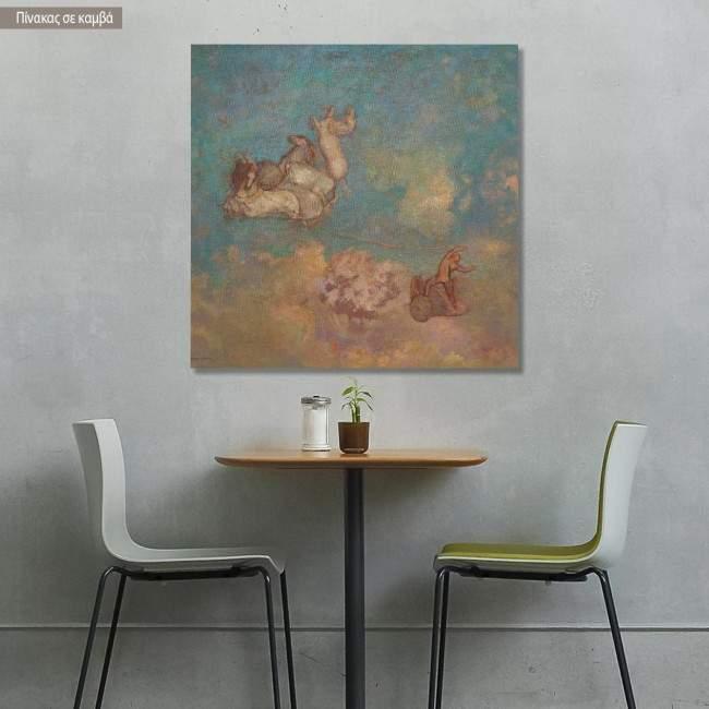 Canvas print The chariot of Apollo, Redon Odilon