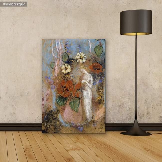 Canvas print Pandora, Redon Odilon