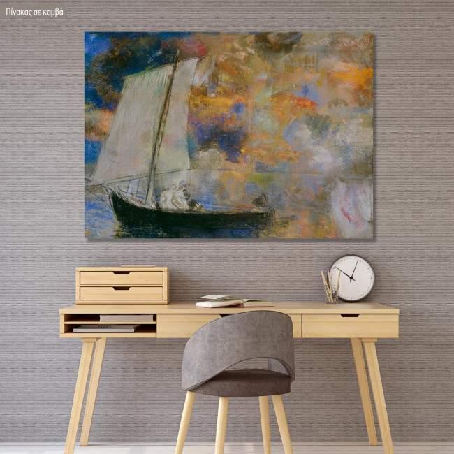 Πίνακας ζωγραφικής Flower clouds, Redon Odilon, αντίγραφο σε καμβά