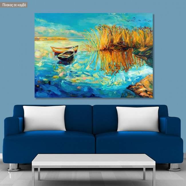 Canvas print Lake memories
