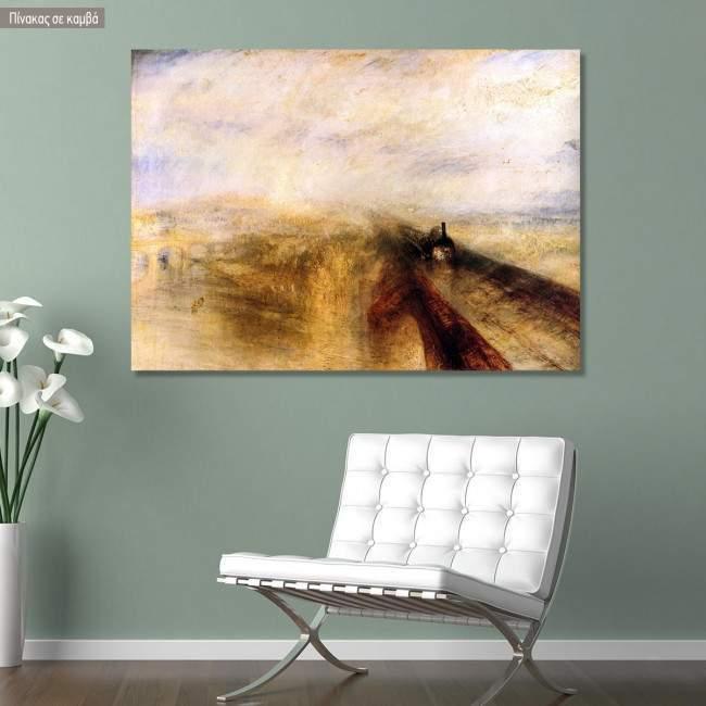Πίνακας ζωγραφικής The Great western railway, Turner J, αντίγραφο σε καμβά
