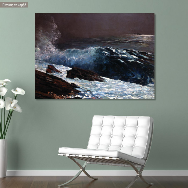 Canvas print Northeaster, Homer W, reproduction
