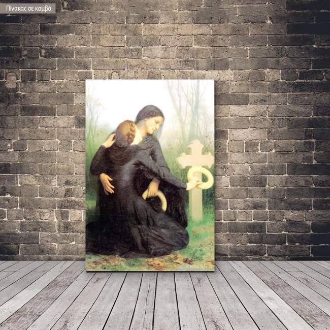 Πίνακας ζωγραφικής All souls day, Bouguereau W. A, αντίγραφο σε καμβά