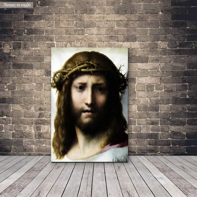 Πίνακας ζωγραφικής Head of Christ, Correggio, αντίγραφο σε καμβά