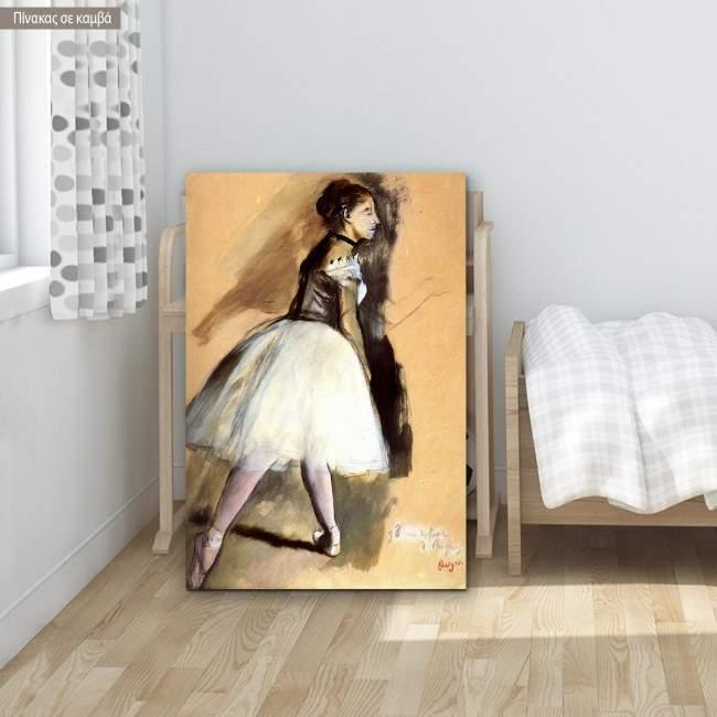 Canvas print Dancer in a ballet, Degas Edgar, reproduction