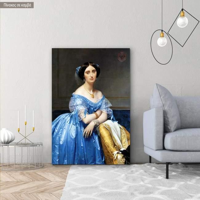 Canvas print Princesse Albert de Broglie, Ingres Jean August