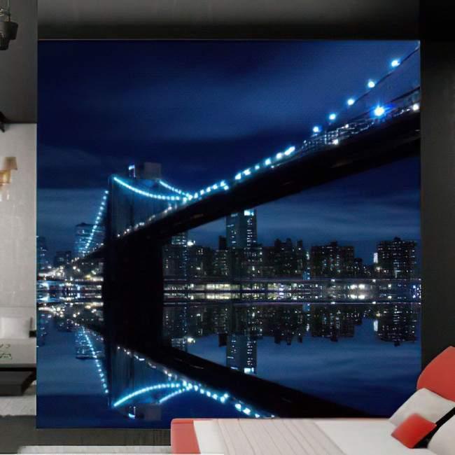 Wallpaper Brooklyn bridge and Manhattan skyline