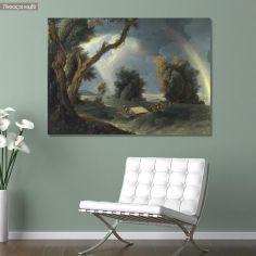 Canvas print Storm on the Ganges, Hodges W.