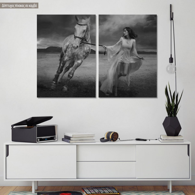 Canvas print Run, two panels