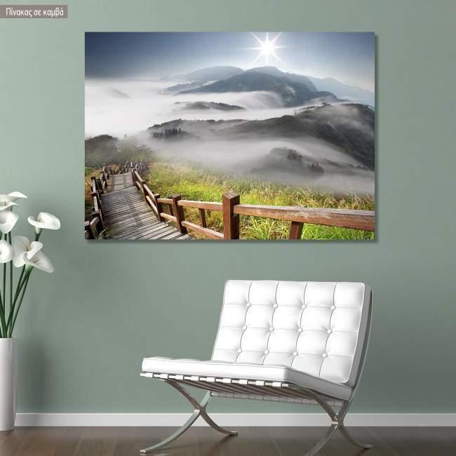 Canvas print Dramatic clouds