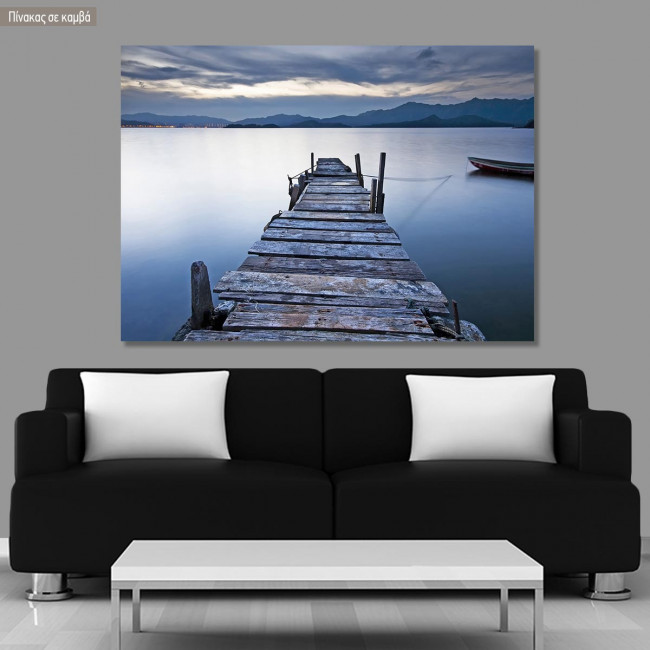 Canvas print Wooden jetty in a lake