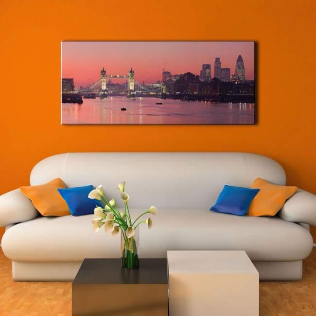 Πίνακας σε καμβά Λονδίνο, London tower bridge, πανοραμικός