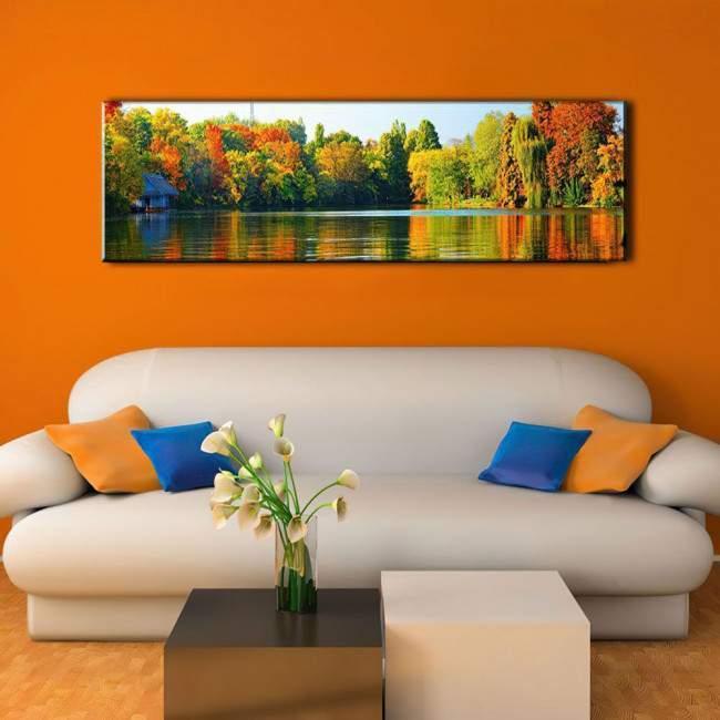 Πίνακας σε καμβά River view, πανοραμικός