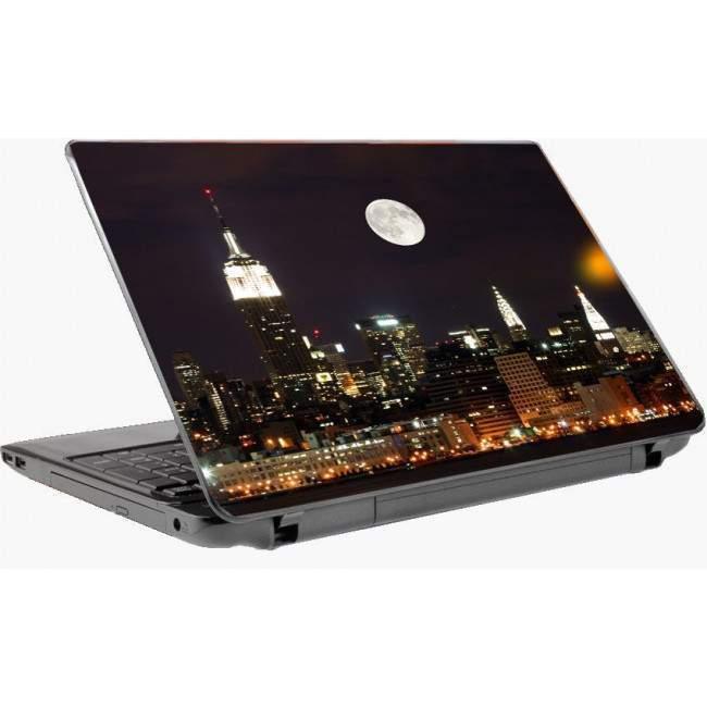 New York night panorama  Laptop skin