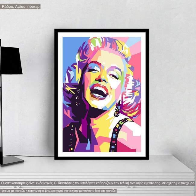 Mairilyn in geometric brushes, poster