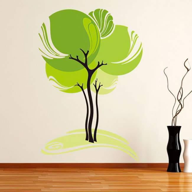 Αυτοκόλλητο τοίχου Αφηρημένο δέντρο