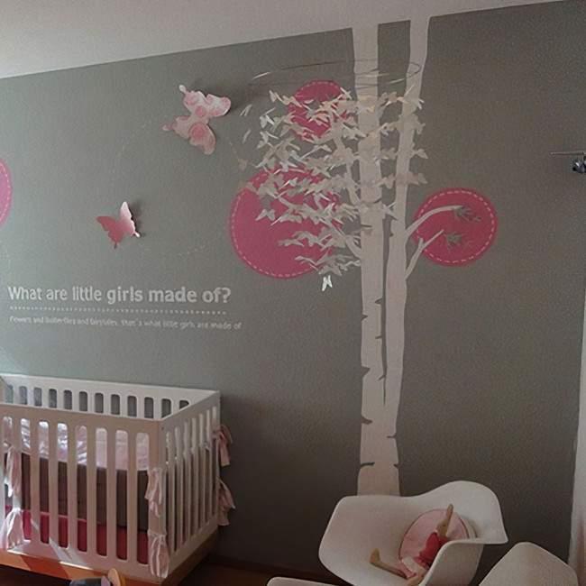 Αυτοκόλλητο τοίχου δέντρο και πεταλούδες Butterflies tree