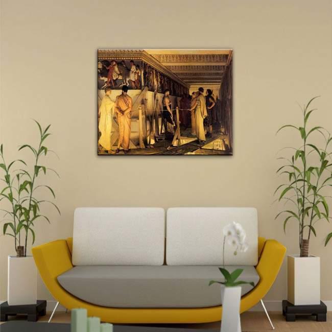 Πίνακας ζωγραφικής Phidias and the frieze of the Parthenon, αντίγραφο σε καμβά