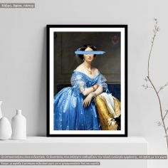 Princesse de Broglie, reart (original Ingres) Poster