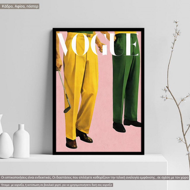 Vogue male, poster